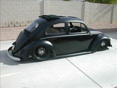 Your daily car fix: Slammed flat black bug