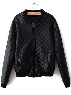 Memorose Women Classic Short Padded Pocket Bomber Jacket Coat Quilted Jacket Medium >>> More info could be found at the image url. (This is an affiliate link) Leather Trench Coat, Faux Leather Jackets, Pu Leather, Thick Leather, Quilted Leather, Vegan Leather, Pu Jacket, Cotton Jacket, Winter Jackets Women