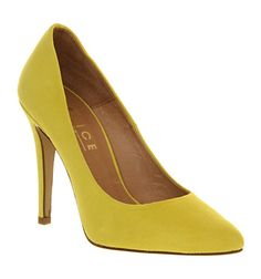 Office ROUNDABOUT YELLOW SUEDE Shoes - Womens High Heels Shoes - Office Shoes