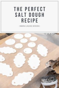 The Perfect Salt Dough Recipe Maria Louise Design Happy New Year Diy Christmas Gifts, Christmas Projects, Kids Christmas, Holiday Crafts, Fun Crafts, Crafts For Kids, Salt Dough Crafts, Salt Dough Projects, Salt Dough Recipes
