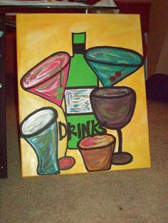 drink time....done with acrylics