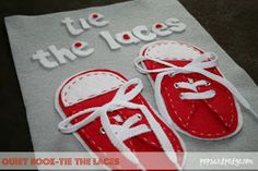 I like these little shoes Pops and Podge: Quiet Book Templates