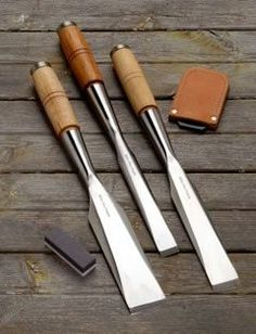 These are a nice set of chisels.  It's good to see more small shops making tools