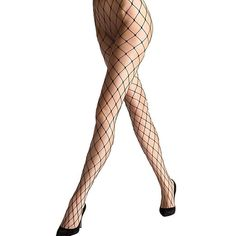 YPS Sexy Big Cross Fishnet Tights Seamless Nylon Large Mesh Stockings... ($7.99) ❤ liked on Polyvore featuring intimates, hosiery, tights, mesh tights, nylon tights, mesh stockings, pantyhose stockings and nylon stockings