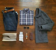 Outfit grid from @rather_dashing, featuring the Hirsch - $159. #beoneofthegreats #greatsbrand #greats