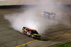 Deliberate spin by Clint Bowyer. He has been penalized with Truex Jr and MWR team.