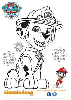 ready for action Coloring Pages Nature, Free Coloring Pages, Coloring For Kids, Coloring Books, Rubble Paw Patrol, Paw Patrol Party, Paw Patrol Birthday, Paw Patrol Marshall