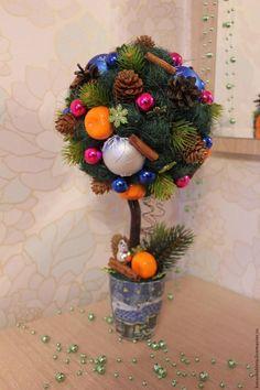 """Готовимся к праздникам: мастерим топиарий """"Новогодний"""" - Ярмарка Мастеров - ручная работа, handmade"""
