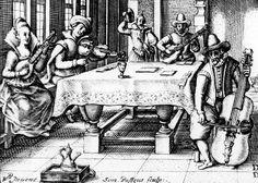 Simon de Passe: Musizierende Gesellschaft, 1612, Kupferstich (Detail), 10,4 x 13,8 cm, Kunstsammlungen Veste Coburg, Inv.-Nr. VII 308.26