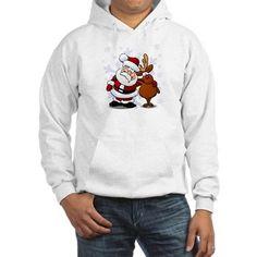 Santa, Rudolph Christmas Hoodie