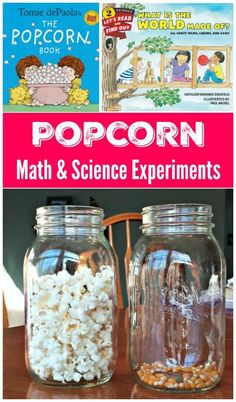 Fun STEM Activity!! Use popcorn to explore math activities and science concepts - counting, volume and physical change experiments for elementary & middle school! Kid Science, Science Activities For Toddlers, Science Experiments For Preschoolers, Science Crafts, Cool Science Experiments, Physical Science, Summer Science, Science Ideas, Weather Science