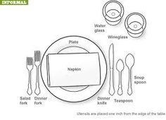 How to Set up a Table for informal dinner- #Thanksgiving