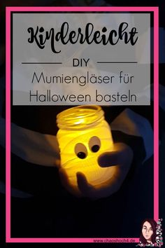 We'll show you how you can easily make little DIY mummy glasses for Halloween . - Delicious Meets Healthy: Quick and Healthy Wholesome Recipes Halloween Kunst, Helloween Party, Led Tea Lights, Just Do It, Halloween Decorations, Christmas Crafts, Last Minute, Diy Crafts, Diys