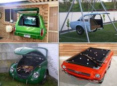 Aren't these clever? Here are some ideas on how to recycle old car parts! View more ideas on how to recycle car parts on our site at http://theownerbuildernetwork.co/sop7 Have you done any recycling projects that involved old car parts?