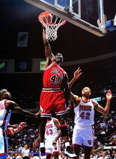 Michael Jordan Chicago Bulls New Jersey Nets P.J. Brown Kenny Anderson