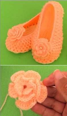 slippers with flower
