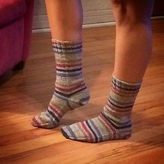 This is a basic toe up sock pattern that uses Judy's Magic Cast on for the toe, an afterthought heel, and a stretchy bind off. It is great for self-stripping yarn. Free Ravelry pattern.