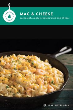 This seafood mac and cheese is studded with luscious lobster and smoky cheddar and gouda cheese. It's delicious and a crowd pleaser! #recipe