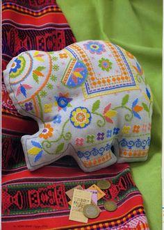 ♥ Mon point Graphiques Cruz ♥: éléphants indiens en point de croix