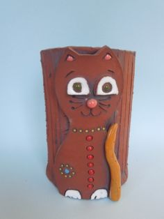 Květináč kočka - keramika Co kus, to originál.