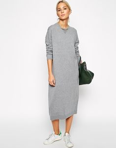 grey sweat-dress, stansmiths