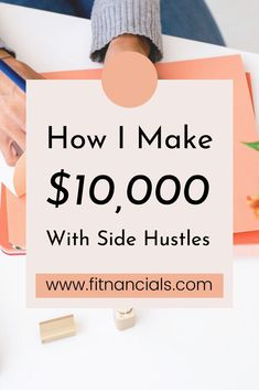 How I Make Over $10,000 Per Month With These 4 Side Hustles Make More Money, Make Money Blogging, Making 10, Making Ideas, Creating Wealth, Blogging For Beginners, Hustle, Lifestyle, Tips