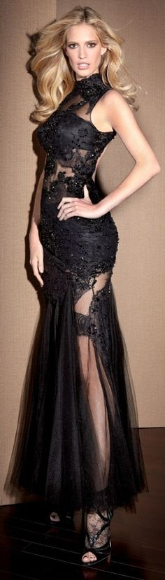 #Claudine haute couture 2013 ~ lace dresses #2dayslook #new style #lacefashion www.2dayslook.com