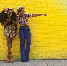 fckyeahprettyafricans:  Ghanaian right (blue pants) Insta: MaameYaaboafo Nigerian leftInsta:kalineofficial  Black Girls Killing ItShop BGKI NOW