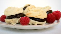 Chocolate Raspberry Ganache Filled Meltaway Cookies