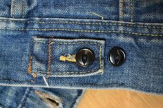 Denim Classics: Lee Storm Rider Jacket | denim etc. Lee denim jackets have traditonally plastic catseye buttons in the back instead of metal ones.