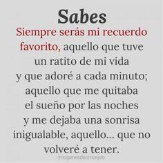 Spanish Inspirational Quotes, Spanish Quotes, Sad Love Quotes, True Quotes, Ex Amor, Frases Love, Sad Texts, Amor Quotes, Love Phrases