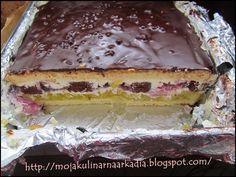 Moja Kulinarna Arkadia: Ciasto urodzinowe. Tort. Polish Desserts, Apple Cake, Tiramisu, Food And Drink, Cooking Recipes, Pudding, Cookies, Ethnic Recipes, Poland