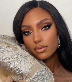 Glam Makeup Look, Makeup Eye Looks, Black Girl Makeup, Bridal Makeup Looks, Day Makeup, Bridal Hair And Makeup, Cute Makeup, Girls Makeup, Gorgeous Makeup