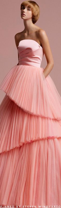 Viktor Rolf Soir Spring Summer 2018 Ready To Wear Collection Evening Dresses, Prom Dresses, Formal Dresses, Wedding Dresses, Viktor & Rolf, Rose Pastel, Dress Vestidos, Tulle Gown, Mode Style