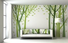 wall painting living room decorate indoor plants 72 best images mural murals stickers creative ideas for walls