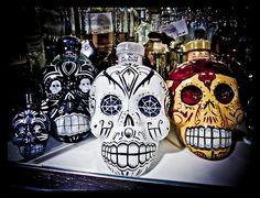 alcohol, booze, calavera, day of the dead, demon Sugar Skull Girl, Sugar Skull Makeup, Sugar Skulls, Sugar Skull Wedding, Tequila Bottles, Liquor Bottles, Goth Kids, Spooky Food, Scandinavian Food
