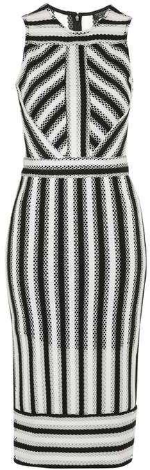 Airtex striped midi dress