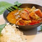 Thaise milde massaman curry met kip