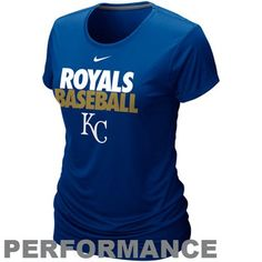Nike Kansas City Royals Women's Dri-FIT Cotton Performance T-Shirt - Royal Blue