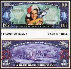 2 ANGEL JOY TO THE WORLD CHRISTMAS MILLION  DOLLAR BILL NOVELTY Collectible H