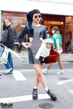 Mikki's Striped Cutout Dress
