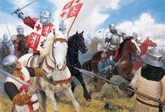 The French cavalry vanguard attacked the dismounted English at the battle of Patay, 18 June 1429