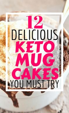 These keto mug cakes will help you stay in ketosis & satisfy your sweet tooth easily with recipes from keto cinnamon roll mug cake to keto vanilla mug cake! Ketogenic Diet Food List, Keto Food List, Ketogenic Recipes, Ketosis Diet, Diet Recipes, Diabetic Recipes, Lunch Recipes, Cake Recipes, Low Carb Desserts