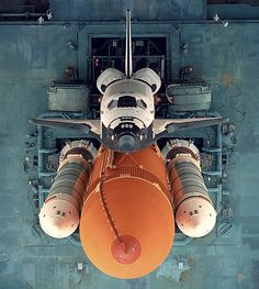 Space Shuttle on launch pad via Photography One