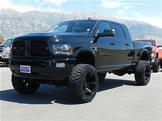 blacked out lifted dodge ram - - Yahoo Image Search Results Lifted Cummins, Cummins Diesel Trucks, Dodge Ram Lifted, Dodge Ram Diesel, Lifted Chevy Trucks, Dodge Cummins, Dodge Trucks, Ram Trucks, Ford Diesel