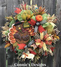 Turkey Wreath  By Connie's Designs