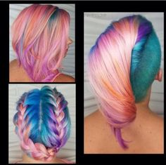 reignsalonandspa@jessglam_hair Created this gorgeous unicorn hair  with @joicointensity ! We Love how each style shows hidden treasures of color Which lk is your favorite ?? #modernsalon #unicornhair #behindthechair #hotonbeauty #joicointensity @modernsalon @behindthechair_com @hotonbeauty @joicointensity