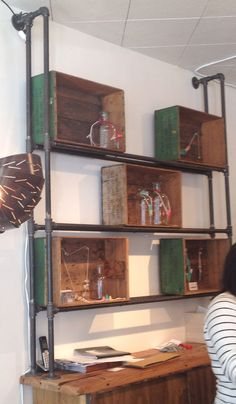 digging the pipe shelves & boxes