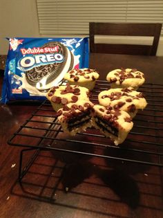 You need to try this so simple to make. Just your favorite pancake mix, chocolate chips, and Oreos!!