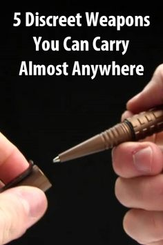 5 Discreet Weapons You Can Carry Almost Anywhere Urban Survival Site